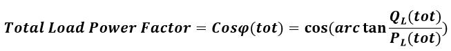 فرمول محاسبه ضریت توان کل بار