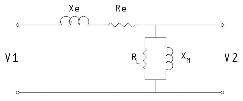 مدار معادل ترانسفورماتور سمت فشار ضعیف