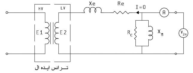 آزمایش مدار باز ترانسفورماتور