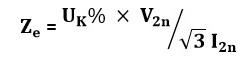 امپدانس معادل ترانسفورماتور