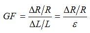 فرمول فاکتور گیج کرنش سنج